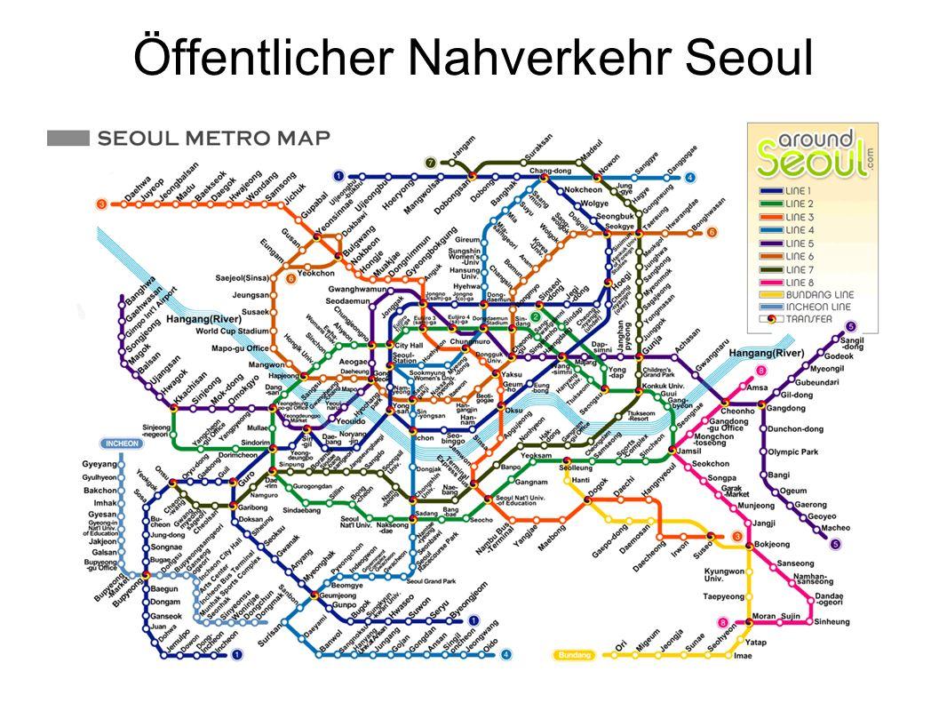 Öffentlicher Nahverkehr Seoul