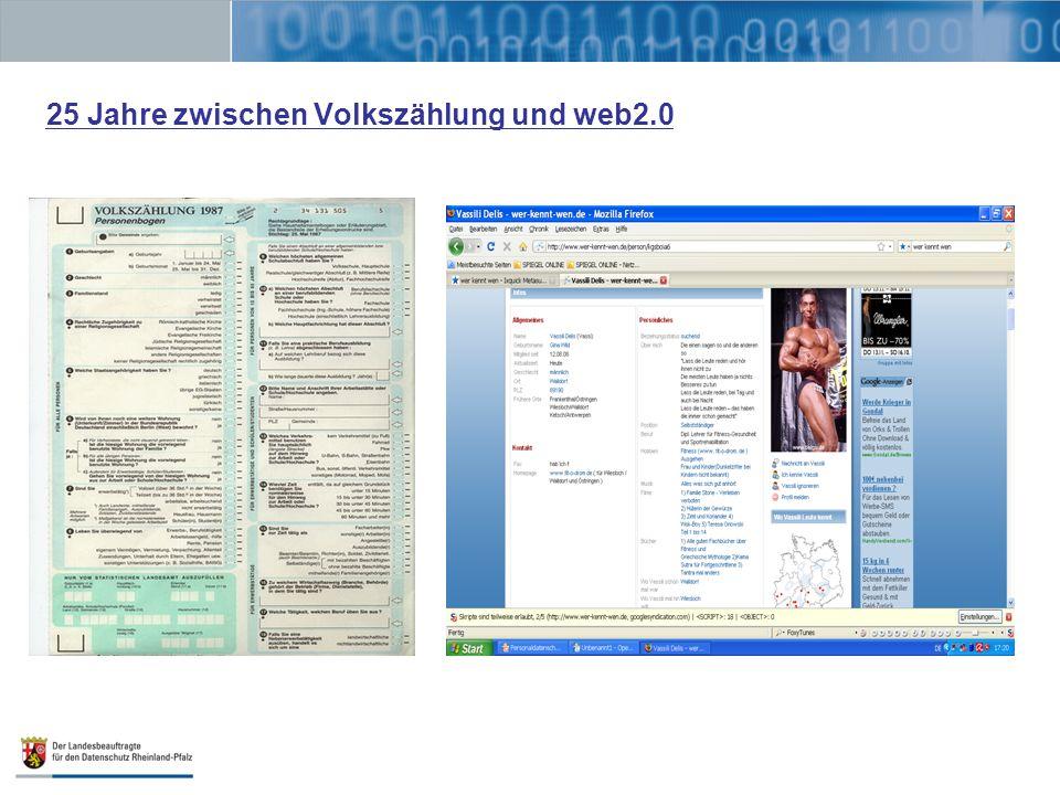 25 Jahre zwischen Volkszählung und web2.0