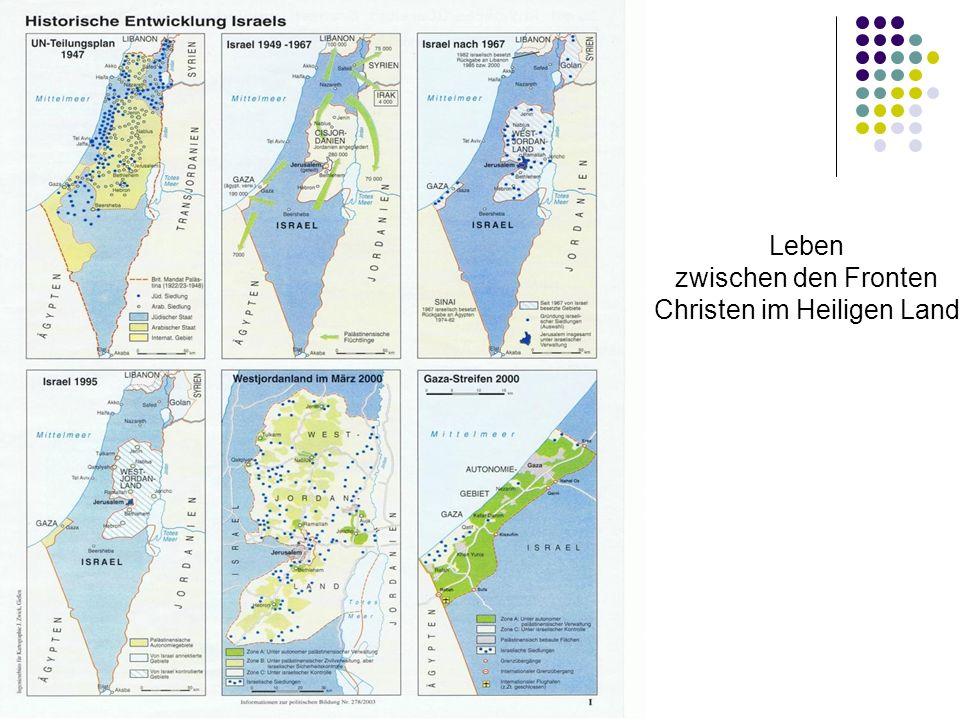 Leben zwischen den Fronten Christen im Heiligen Land