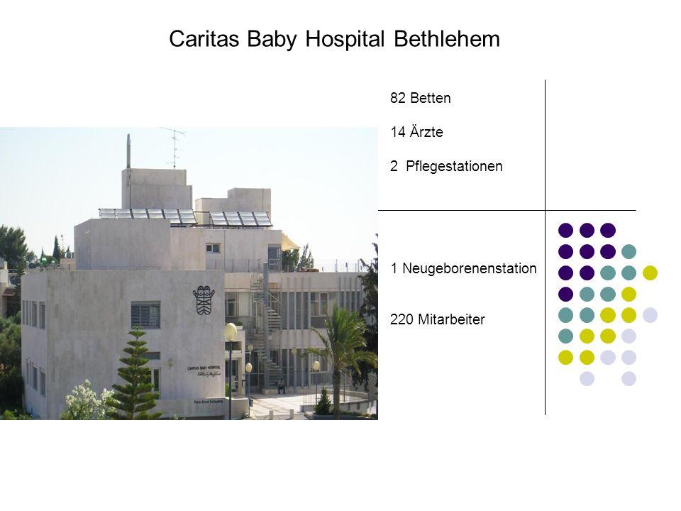 82 Betten 14 Ärzte 2 Pflegestationen 1 Neugeborenenstation 220 Mitarbeiter