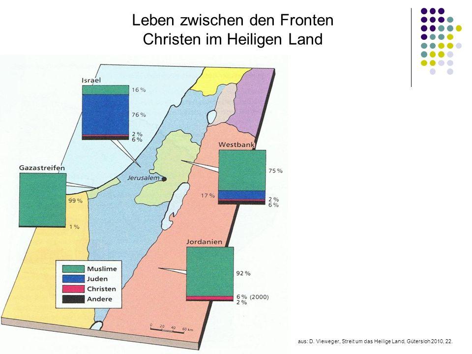 Leben zwischen den Fronten Christen im Heiligen Land aus: D. Vieweger, Streit um das Heilige Land, Gütersloh 2010, 22.
