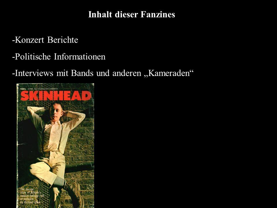 Inhalt dieser Fanzines -Konzert Berichte -Politische Informationen -Interviews mit Bands und anderen Kameraden