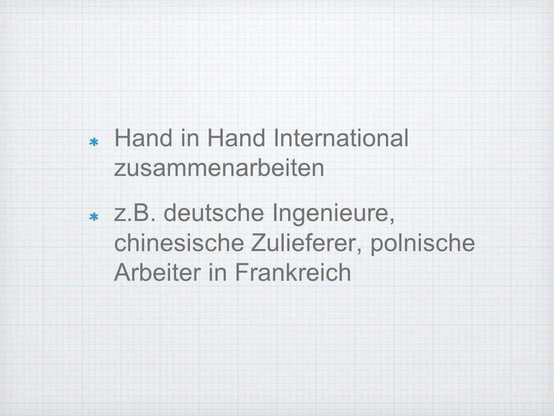 Hand in Hand International zusammenarbeiten z.B.