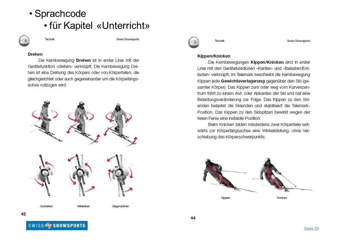 Seite 26 Sprachcode für Kapitel «Unterricht»