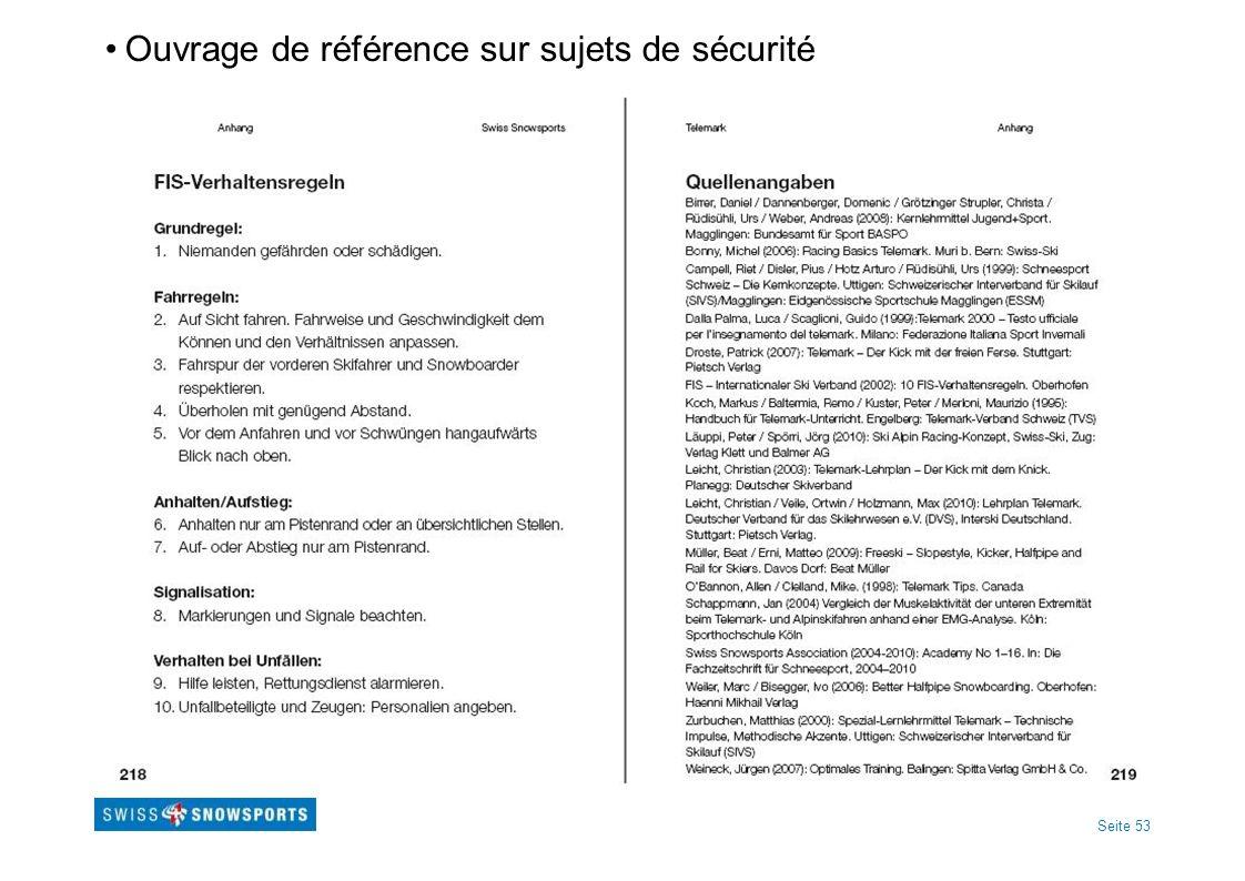 Seite 53 Ouvrage de référence sur sujets de sécurité