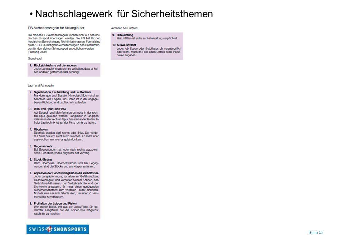 Seite 53 Nachschlagewerk für Sicherheitsthemen
