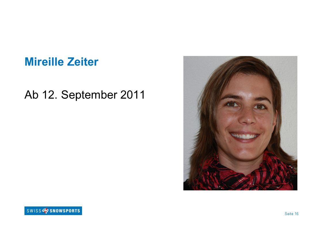 Seite 16 Mireille Zeiter Ab 12. September 2011