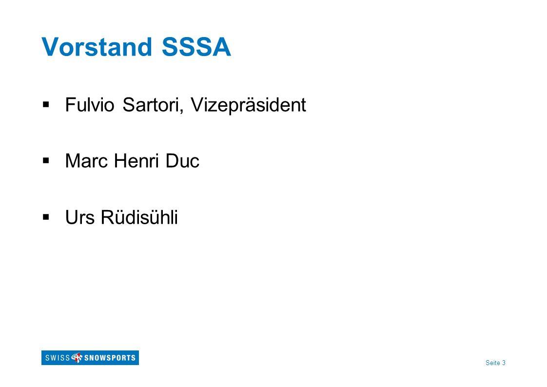 Seite 4 Neues Vorstandsmitglied Johny Wyssmüller Vertreter Swiss Ski Präsident BOSV Schulleiter SSSS Schönried/Saanen