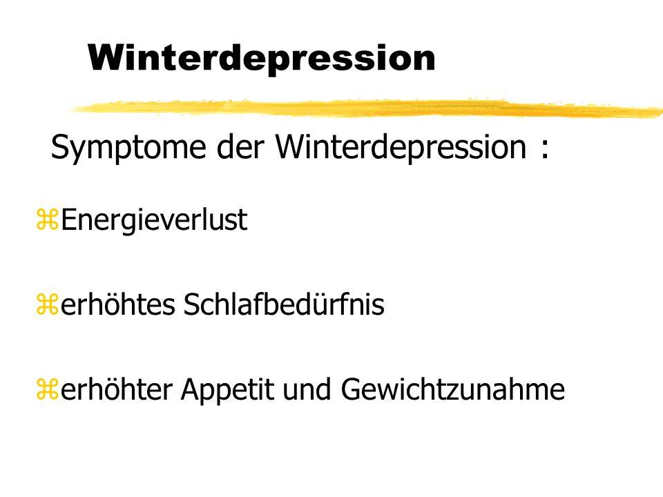 Allgemeines zur Lichtwirkung zÜber die Retina tritt Licht in das Gehirn ein zLicht unterdrückt Produktion des Schlafhormons Melatonien zBei Winterdepression zu viel Melatonien zLichttherapie kann dagegen wirken