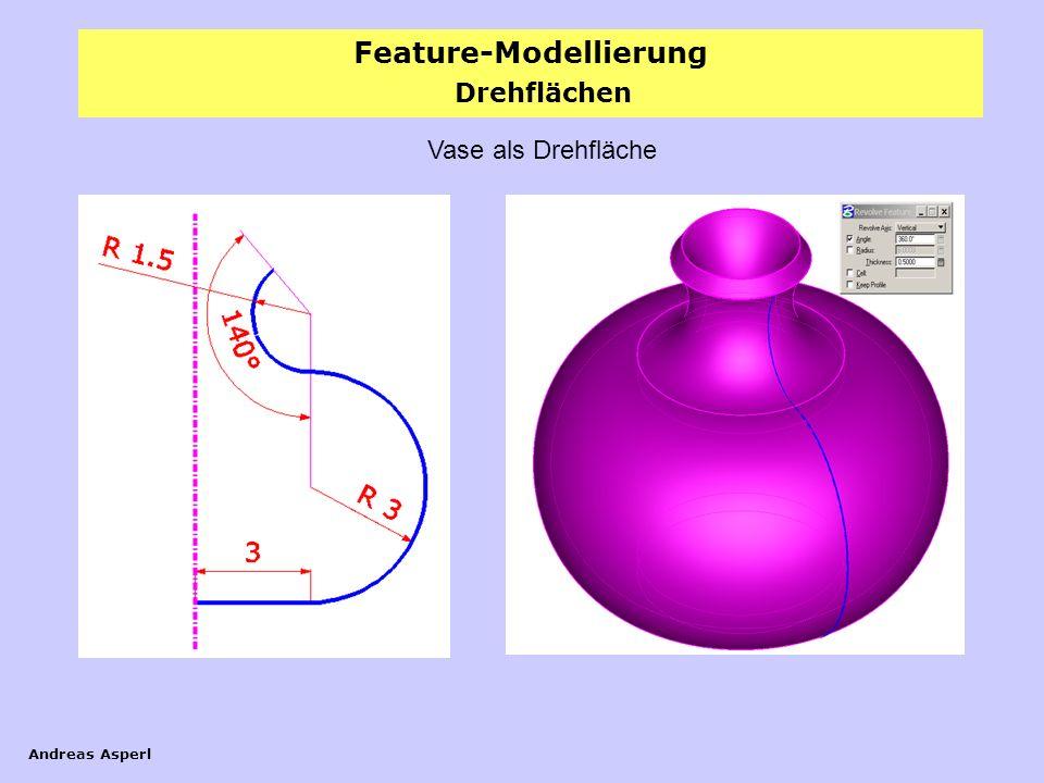 Feature-Modellierung Andreas Asperl Drehflächen Vase als Drehfläche