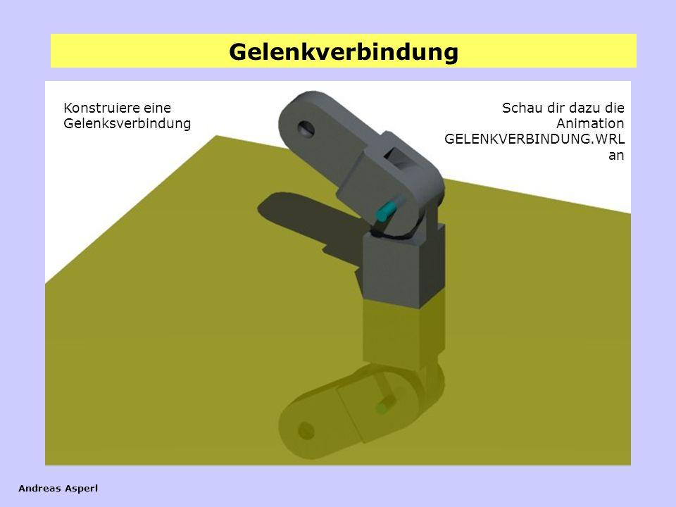Gelenkverbindung Andreas Asperl Gelenkverbindung Konstruiere eine Gelenksverbindung Schau dir dazu die Animation GELENKVERBINDUNG.WRL an