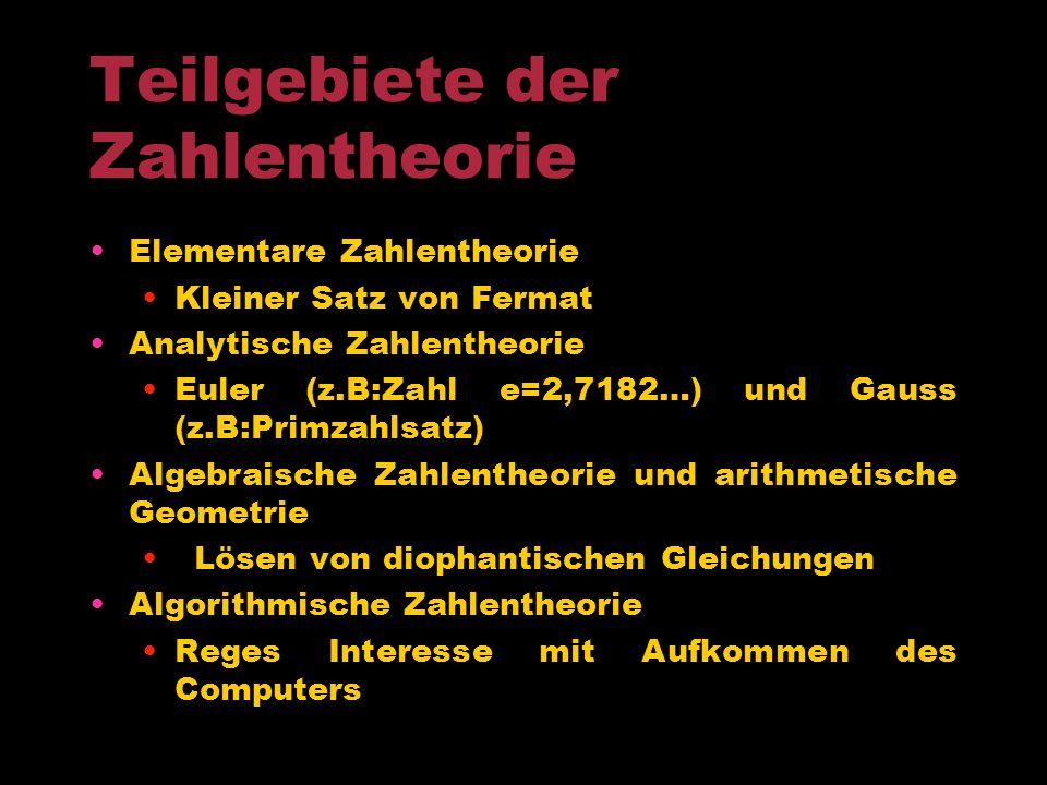 Beiträge zur Zahlentheorie
