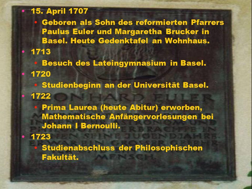Leonhard Euler (1707-1783)