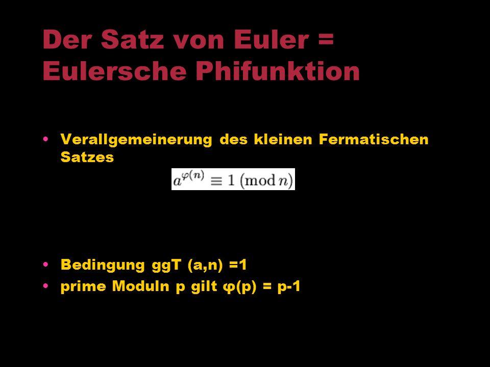 Eulers wichtigste Beiträge der Zahlentheorie Analytische Methoden der Zahlentheorie Beweis für die Unendlichkeit der Menge der Primzahlen Der Satz von