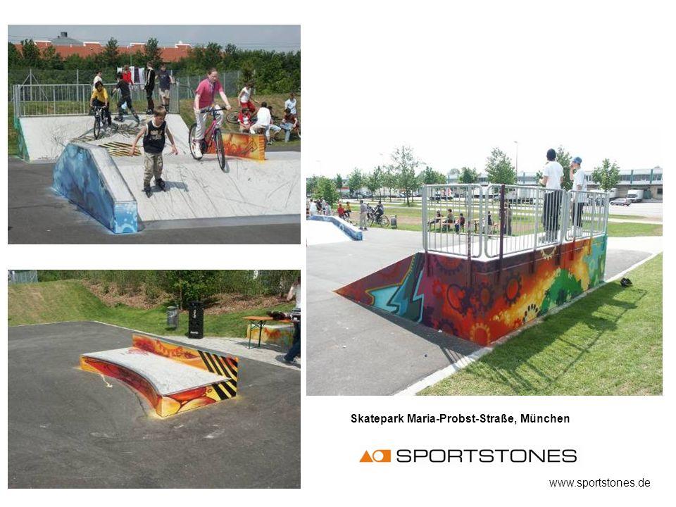 Skatepark Maria-Probst-Straße, München www.sportstones.de