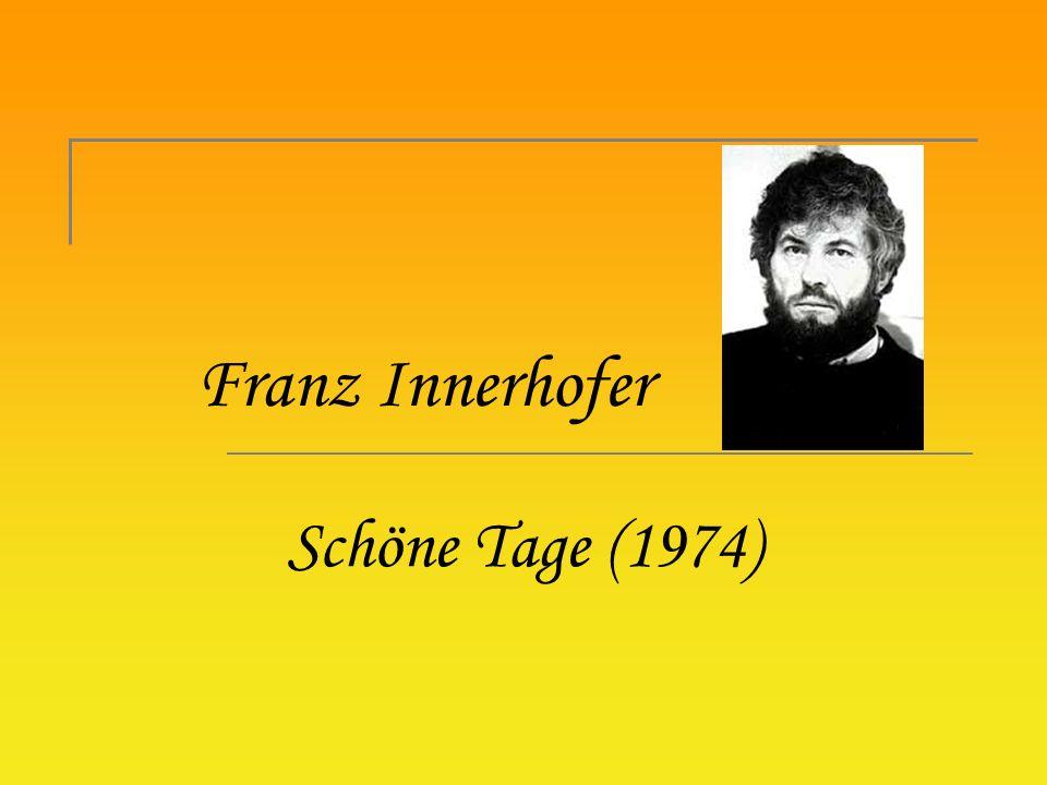 Franz Innerhofer Schöne Tage (1974)