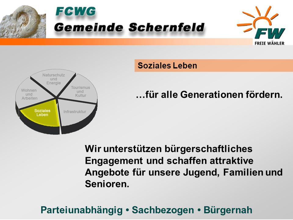 Parteiunabhängig Sachbezogen Bürgernah Soziales Leben …für alle Generationen fördern. Wir unterstützen bürgerschaftliches Engagement und schaffen attr