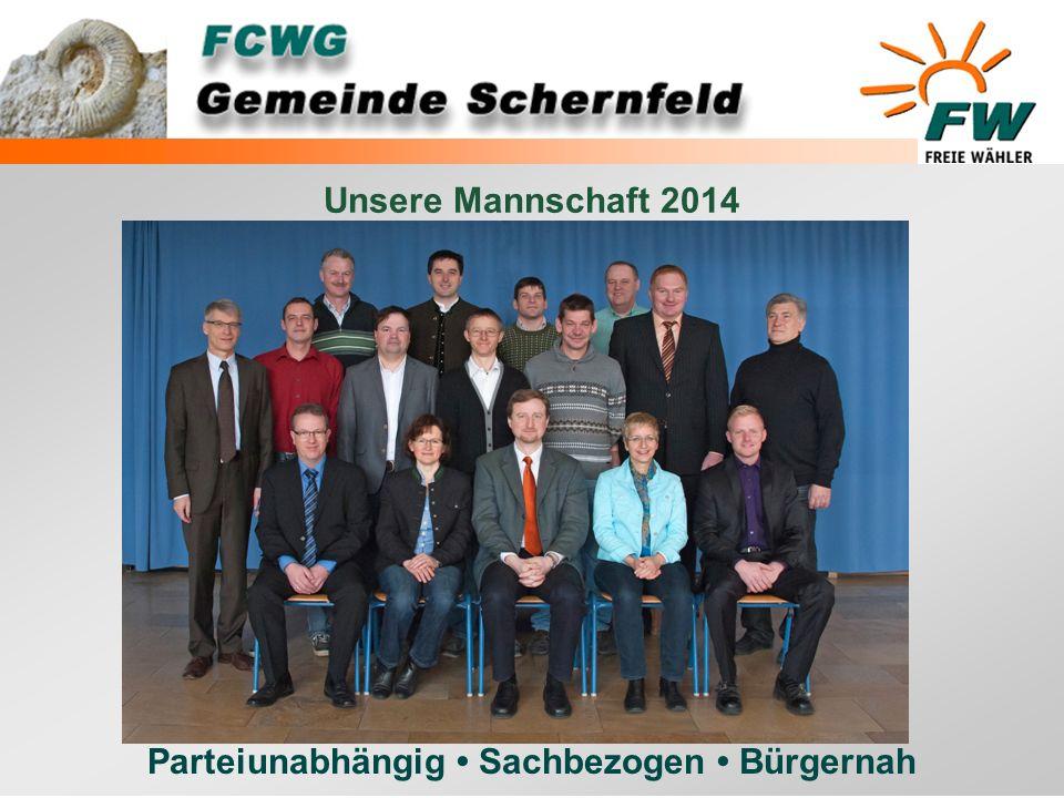 Parteiunabhängig Sachbezogen Bürgernah Unsere Mannschaft 2014