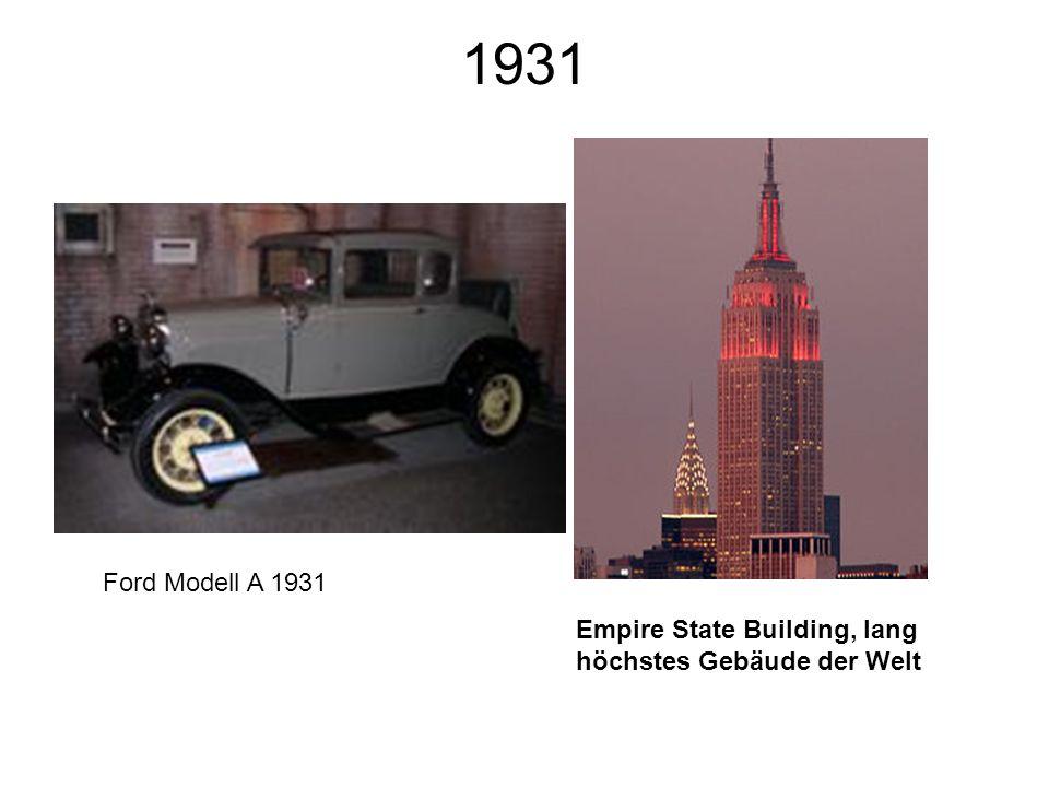 1931 Ford Modell A 1931 Empire State Building, lang höchstes Gebäude der Welt