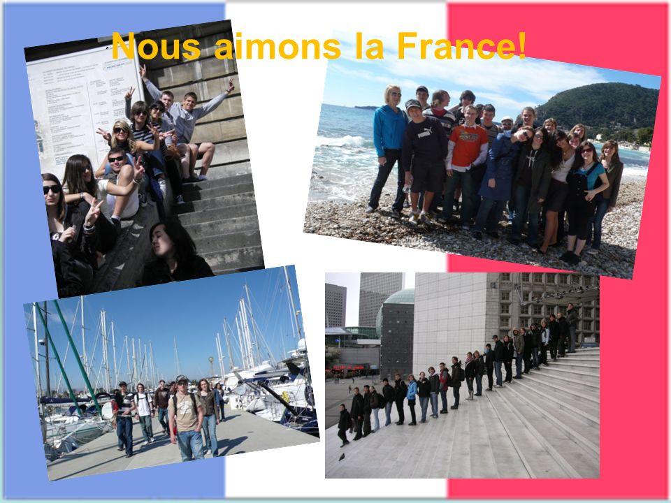 ´ Nous aimons la France!
