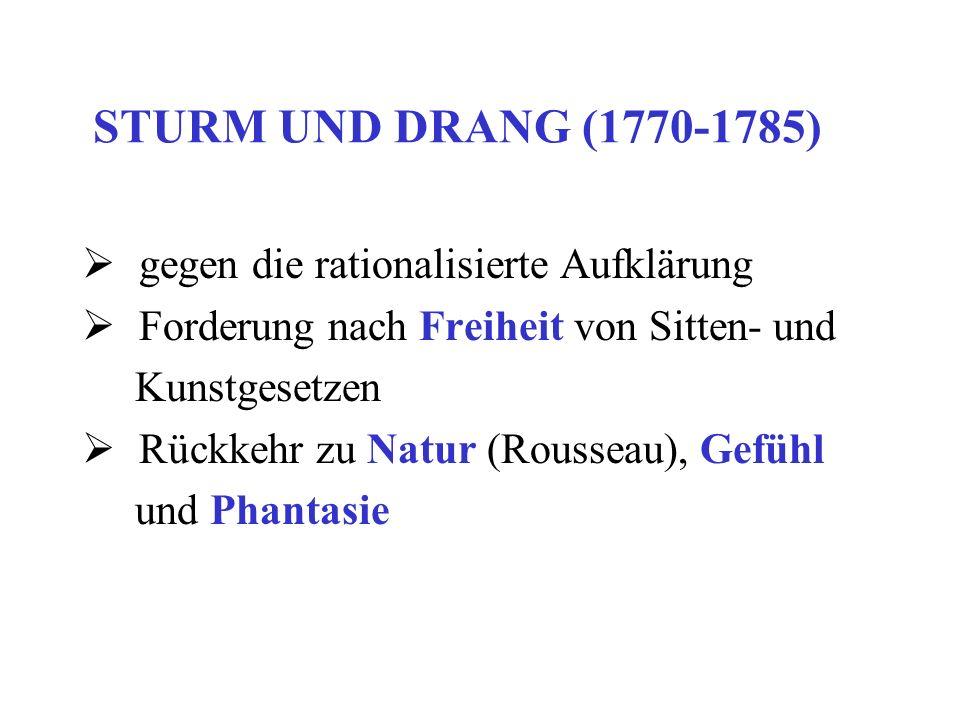 Göttinger Hainbund Ludwig Hölty (1748-1776) Johann Heinrich Voss (1751-1826) Matthias Claudius (1740-1815) Abendlied: Der Mond ist aufgegangen… Gottfried August Bürger (1748-1794) Lenore Münchhausen