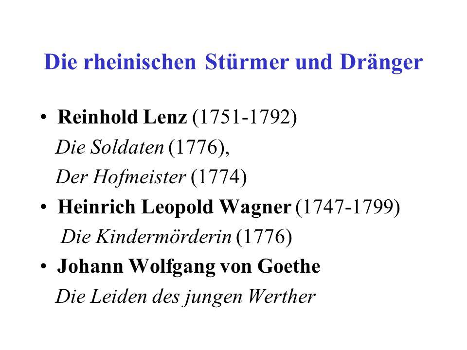 Die schwäbische Gruppe Christian Schubart (1739-1791) Friedrich Schiller Die Räuber Die Verschwörung des Fiesko zu Genua Kabale und Liebe