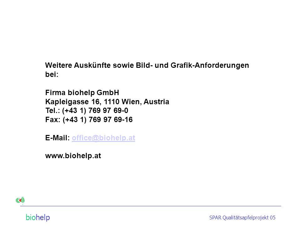 biohelp SPAR Qualitätsapfelprojekt 05 Qualitätsapfel-Produzenten Deutsch HelmutKulmer Josef u. Gabriela Frühwirth BernhardLocker Hermann Glanz JosefNi
