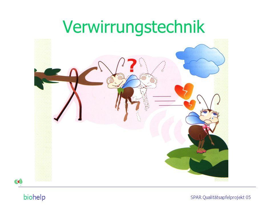 biohelp SPAR Qualitätsapfelprojekt 05 Verwirrungstechnik