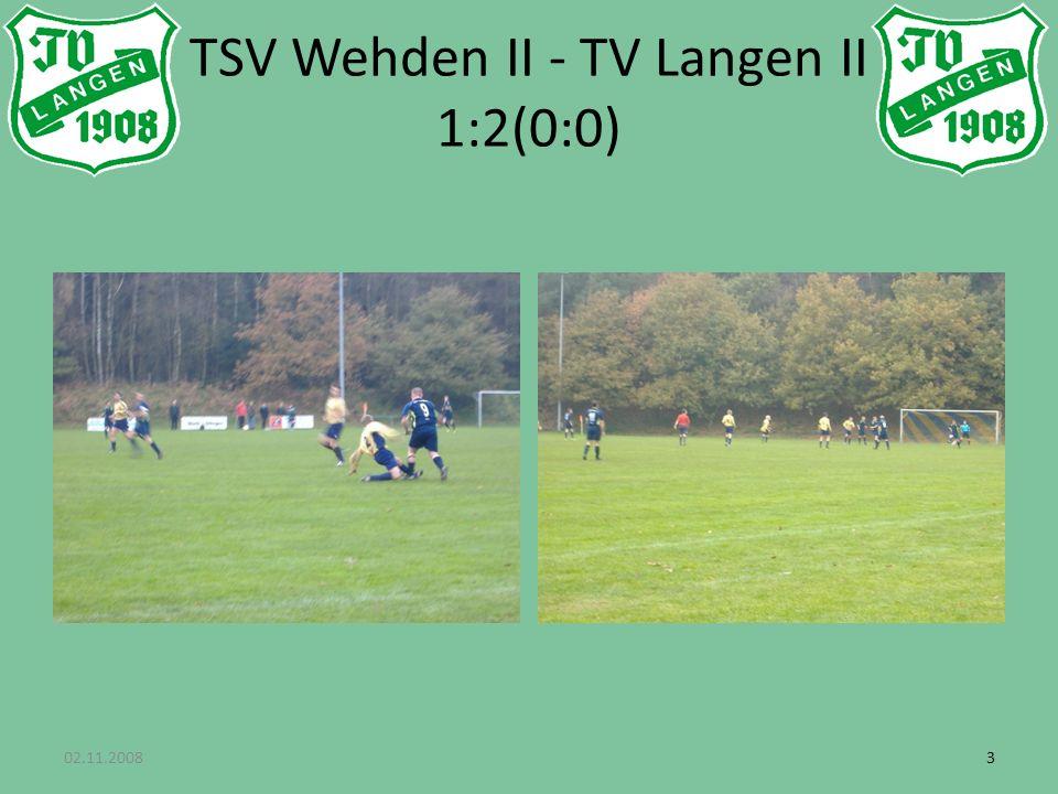 33 TSV Wehden II - TV Langen II 1:2(0:0)
