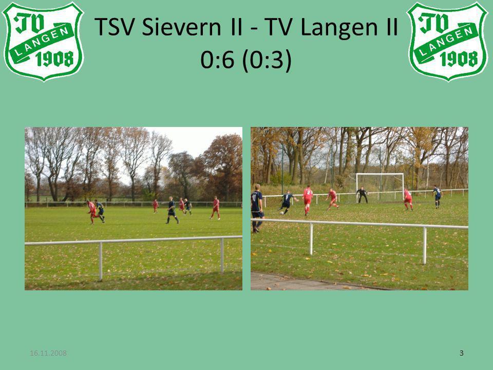 33 TSV Sievern II - TV Langen II 0:6 (0:3)