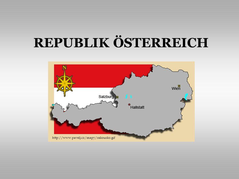Grundinformationen Bevölkerung und Sprache Politisches System Volkswirtschaft Typisch für Österreich Persönlichkeiten INHALT http://www.treking.cz/mapy/rakousko.jpg
