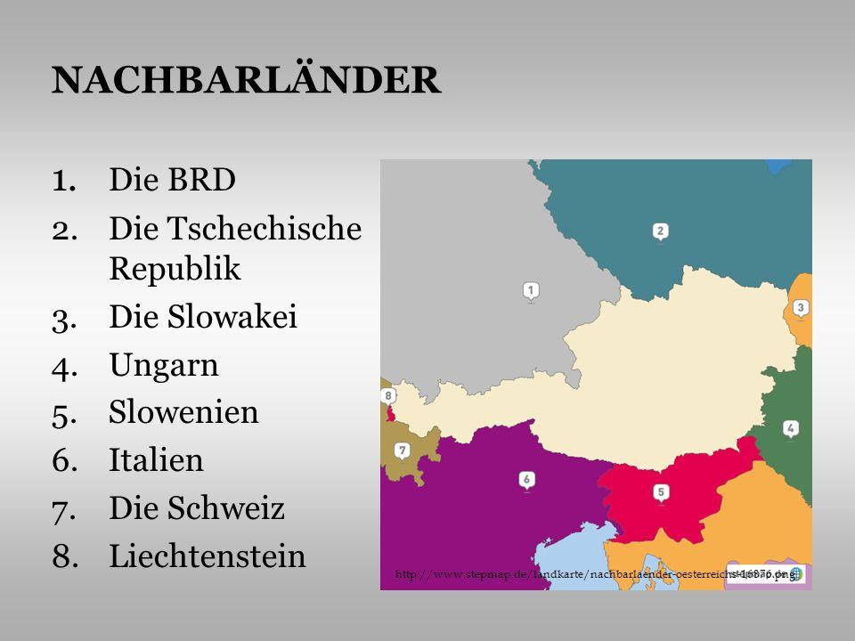 Österreich ist ein Mittel- und Hochgebirgsland Nordkalkalpen, Zentralalpen und Südkalkalpen 63% des Staatsgebietes besitzen die Ostalpen, die sich in 3 Zonen gliedern – Nordkalkalpen, Zentralalpen und Südkalkalpen der höchste Gipfel Österreichs ist der Großglockner (3797m) der mächtigste Fluß ist die Donau die Flüsse bilden mit ihren Wasserkraftwerken bedeutende Energiequellen GRUNDINFORMATIONEN