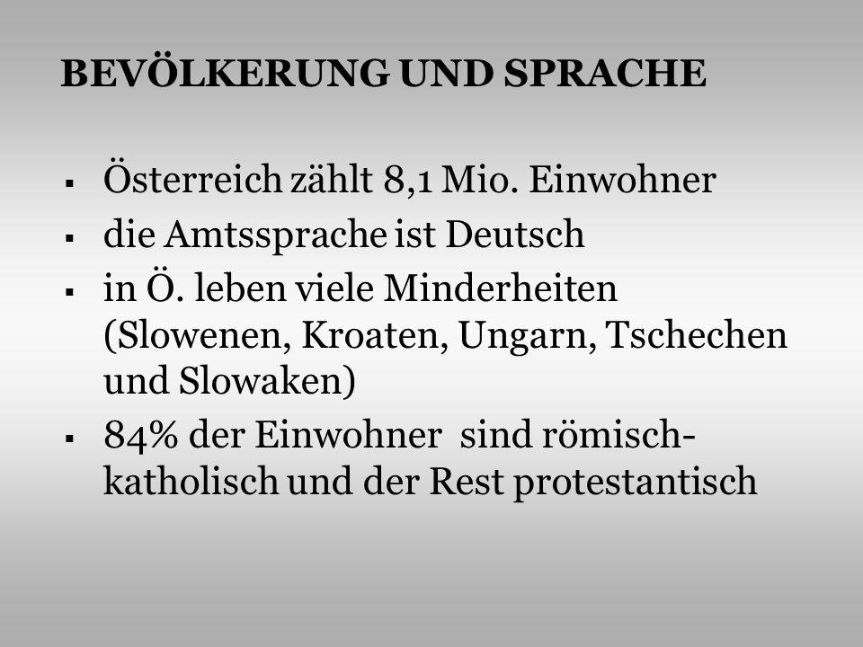 POLITISCHES SYSTEM die Republik Österreich ist eine neutrale, parlamentarisch – demokratische Bundesrepublik sie besteht aus 9 selbständigen Bundesländern http://www.urlauber-tipp.de/images/oesterreich-karte.jpg