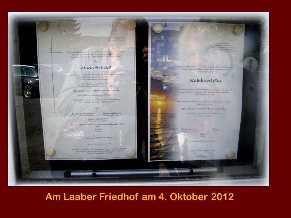 Am Laaber Friedhof am 4. Oktober 2012