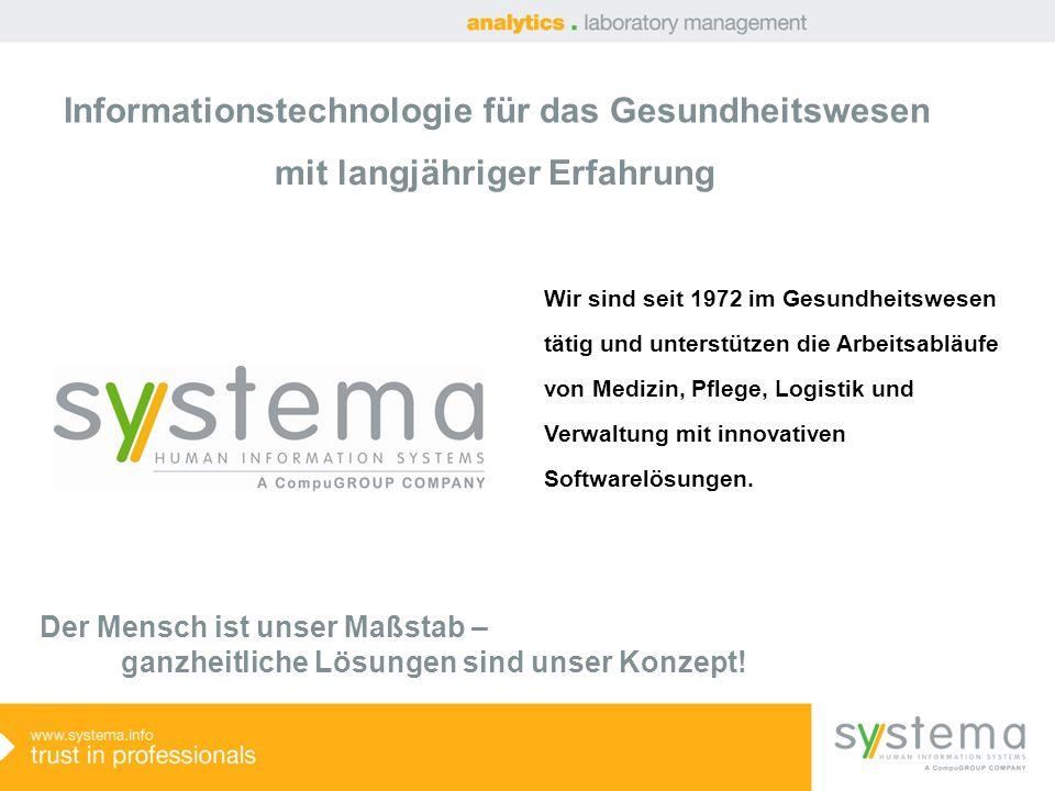 systema G2 analytics – klarer Marktführer in Österreich mit 28 % Marktanteil (Krankenhauslaboratorien) analytics – Marktführer in Österreich