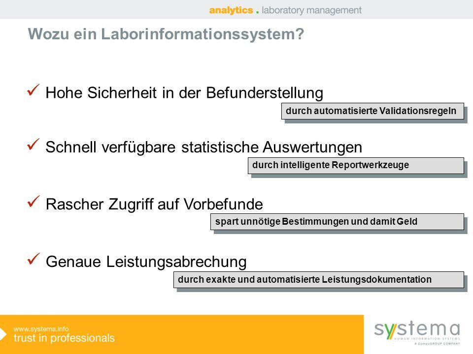 Wozu ein Laborinformationssystem.