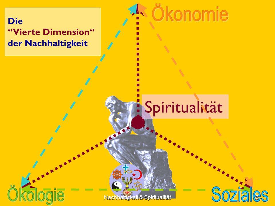 Spiritualität Die Vierte Dimension der Nachhaltigkeit 6Nachhaltigkeit & Spiritualität