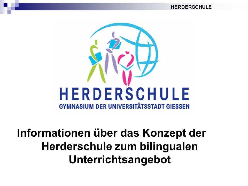 HERDERSCHULE Informationen über das Konzept der Herderschule zum bilingualen Unterrichtsangebot