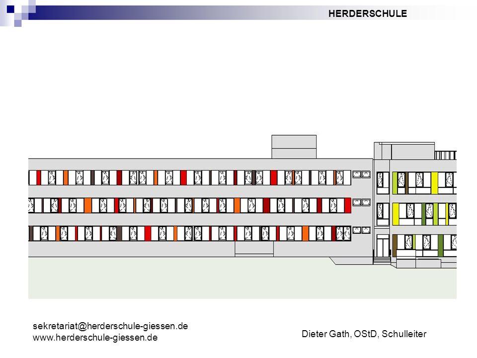 Dieter Gath, OStD, Schulleiter sekretariat@herderschule-giessen.de www.herderschule-giessen.de