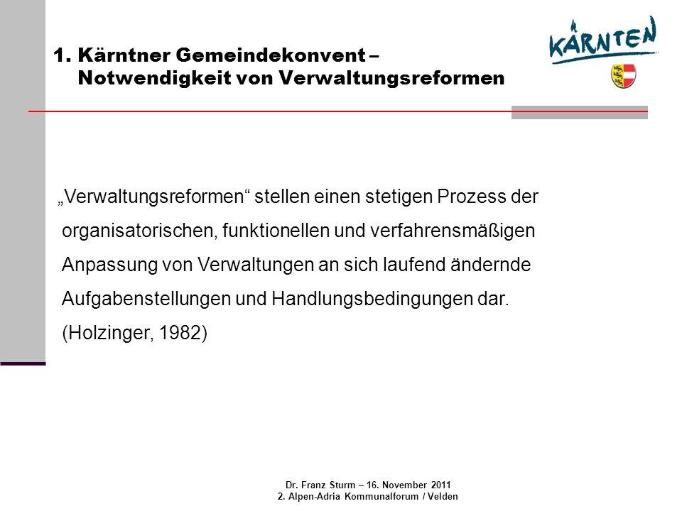 Dr. Franz Sturm – 16. November 2011 2. Alpen-Adria Kommunalforum / Velden 1.