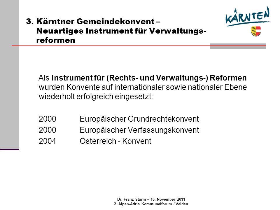 Dr.Franz Sturm – 16. November 2011 2. Alpen-Adria Kommunalforum / Velden 4.