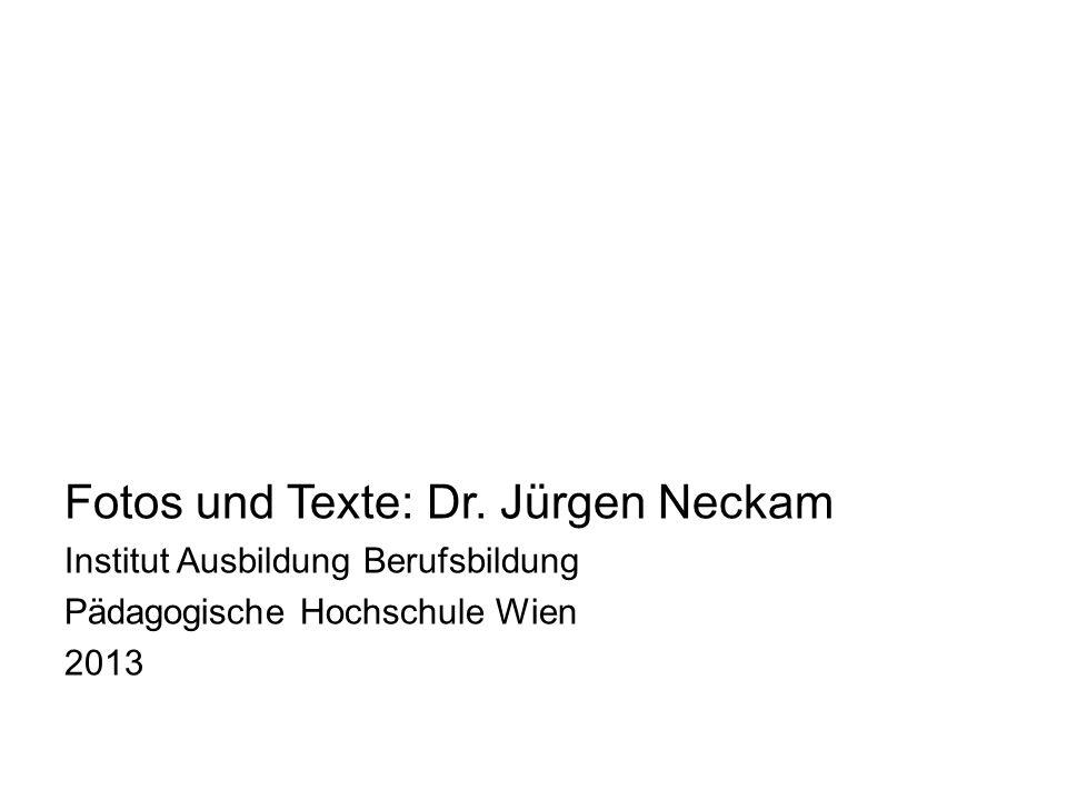 Fotos und Texte: Dr. Jürgen Neckam Institut Ausbildung Berufsbildung Pädagogische Hochschule Wien 2013