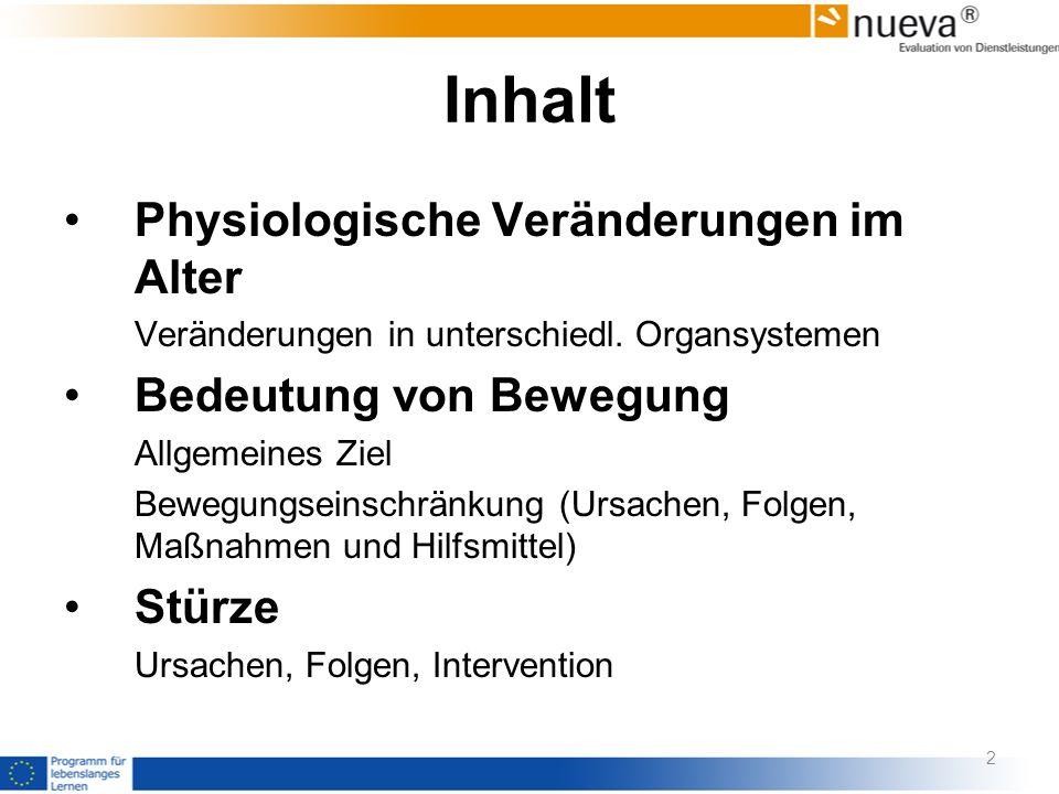 Häufigkeit der Risiken Sturz-Screening Betreutes Wohnen (n=117) Drapp, 2007
