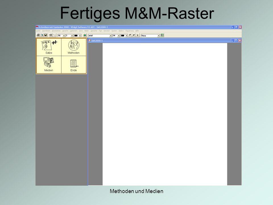 Methoden und Medien Fertiges M&M-Raster