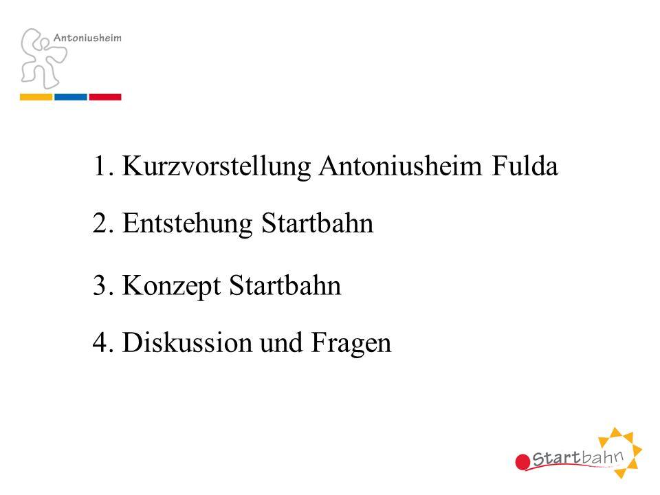 1. Kurzvorstellung Antoniusheim Fulda 2. Entstehung Startbahn 3. Konzept Startbahn 4. Diskussion und Fragen