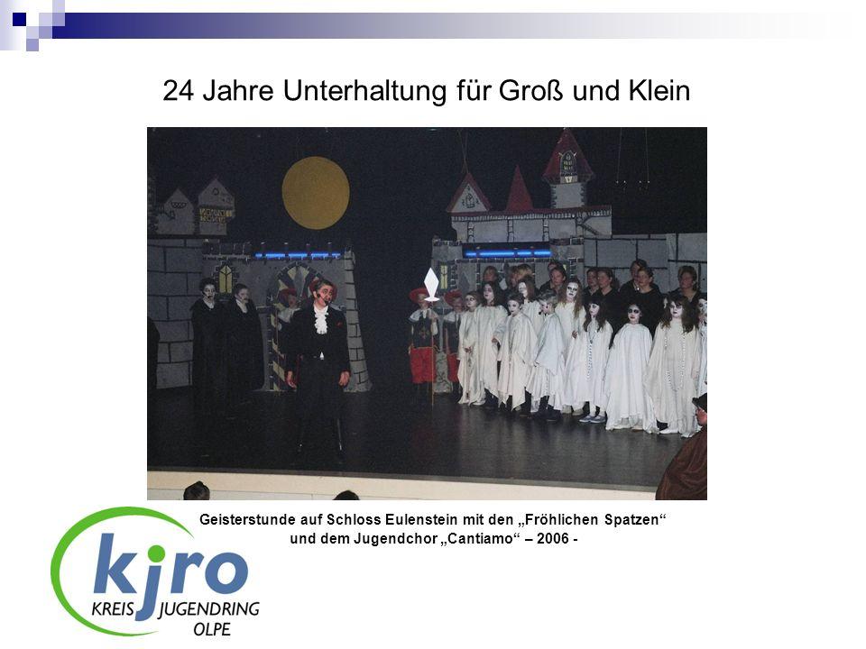 24 Jahre Unterhaltung für Groß und Klein Geisterstunde auf Schloss Eulenstein mit den Fröhlichen Spatzen und dem Jugendchor Cantiamo – 2006 -