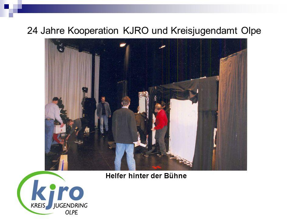 24 Jahre Kooperation KJRO und Kreisjugendamt Olpe Helfer hinter der Bühne