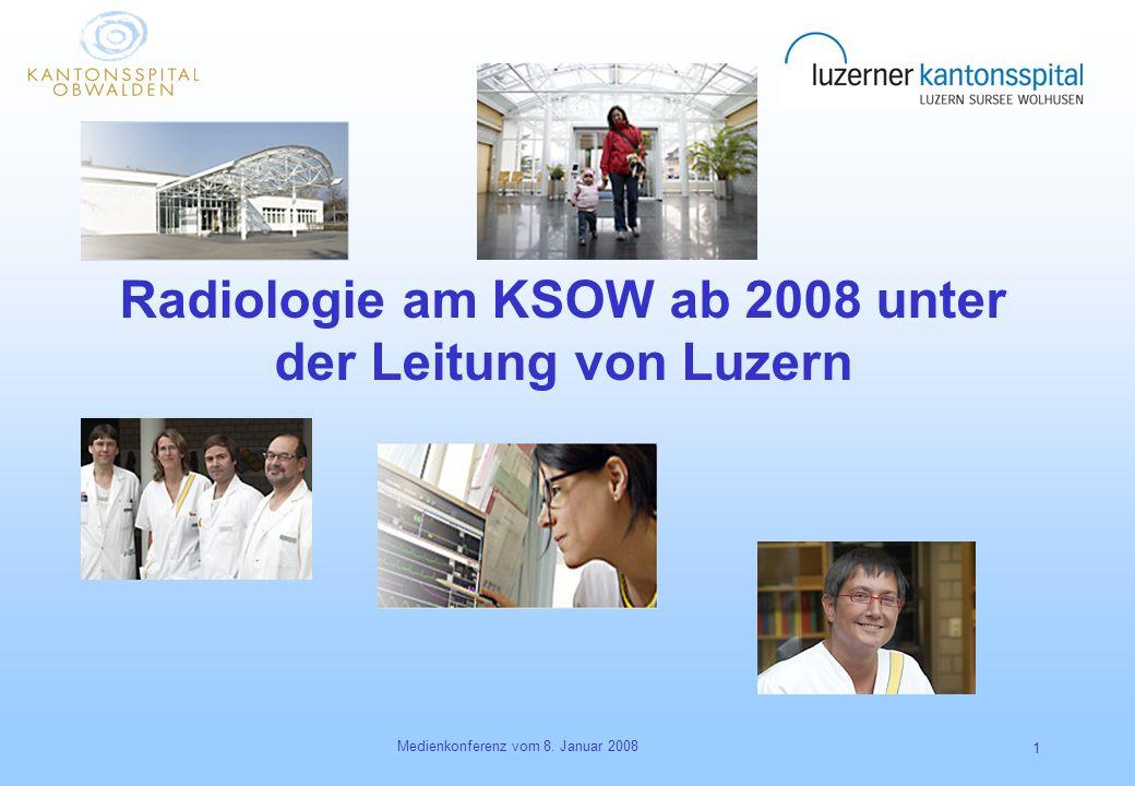 Medienkonferenz vom 8. Januar 2008 1 Radiologie am KSOW ab 2008 unter der Leitung von Luzern