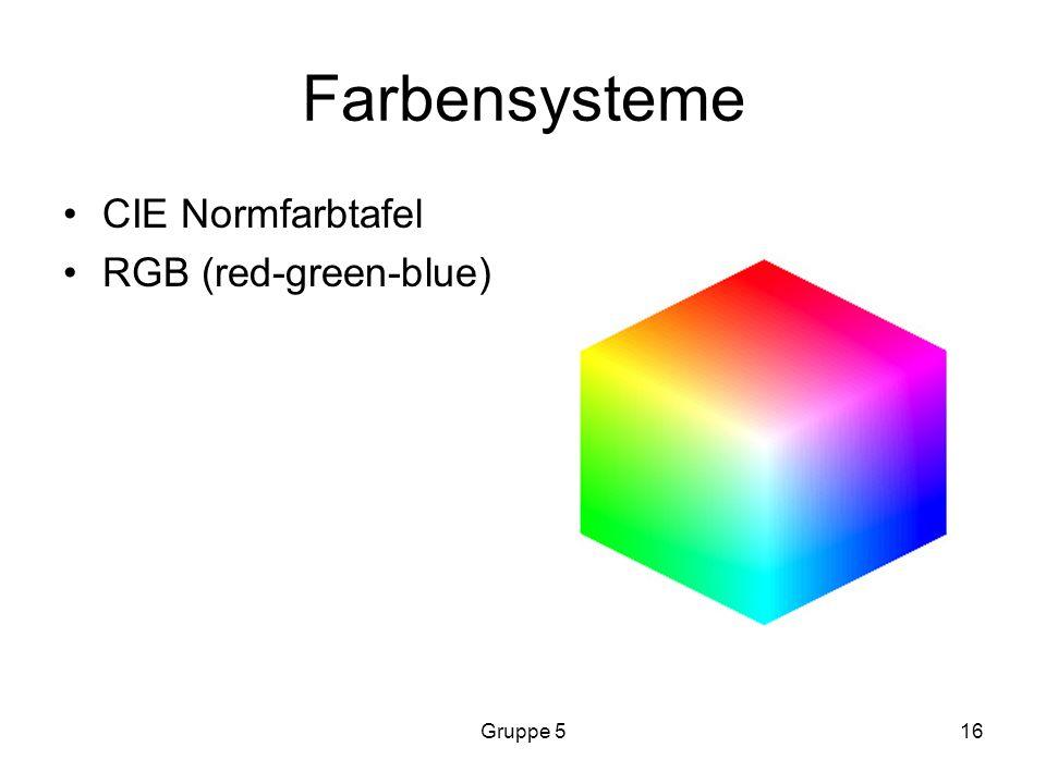 Gruppe 516 Farbensysteme CIE Normfarbtafel RGB (red-green-blue)