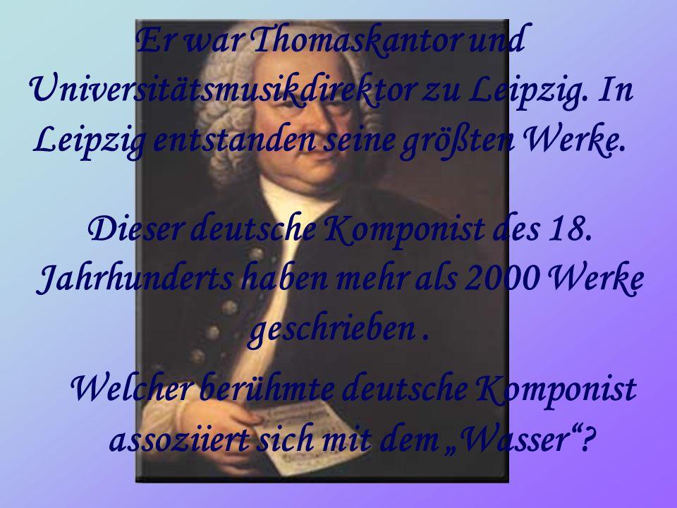 Er war Thomaskantor und Universitätsmusikdirektor zu Leipzig.